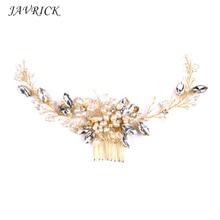 Bride Comb Hair Headwear Pearl Headdress Wedding Handmade Jewelry Elegant Luxury