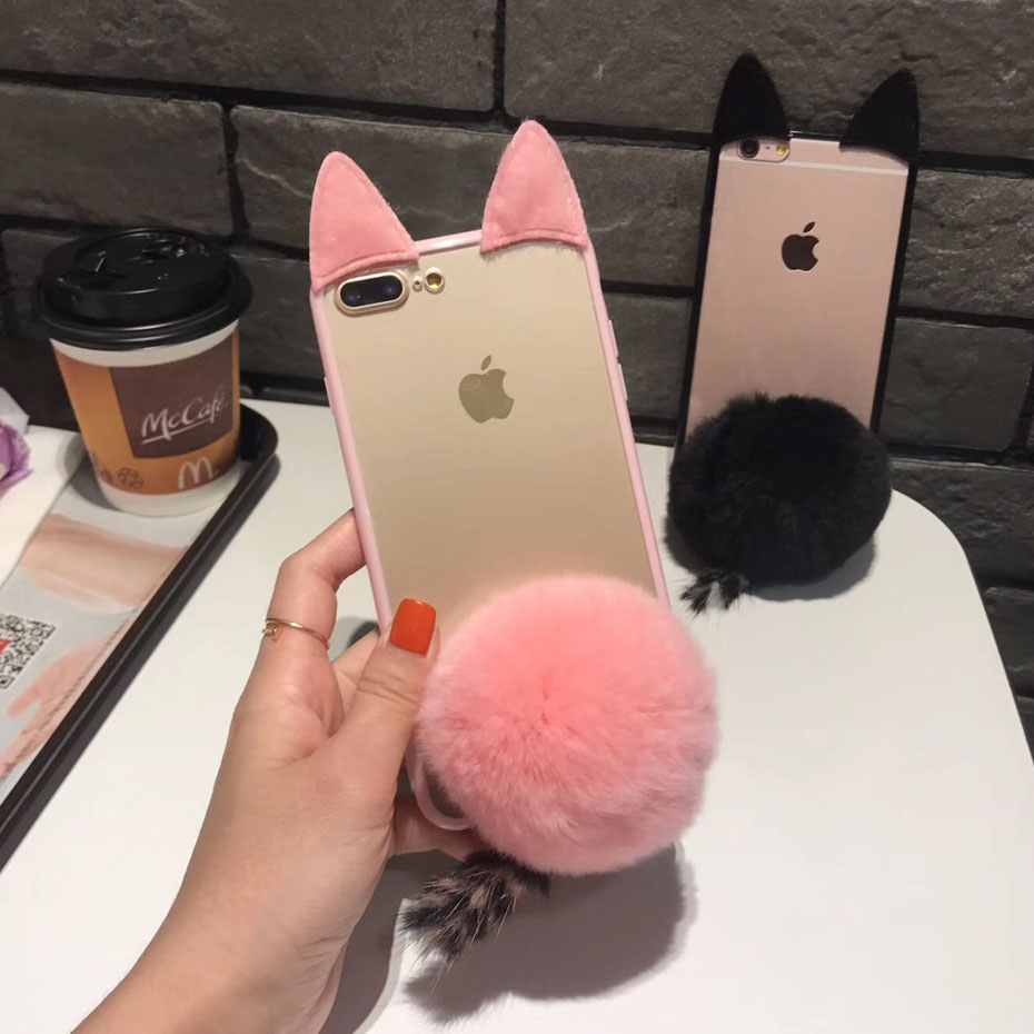 Fitted Cases Frank Caenboo Case For Samsung Galaxy J1 J2 J3 J4 J5 J7 J8 Grand Prime Plus Pro Rabbit Furry Pink Ball Clear Case Cover Pc Hard Back