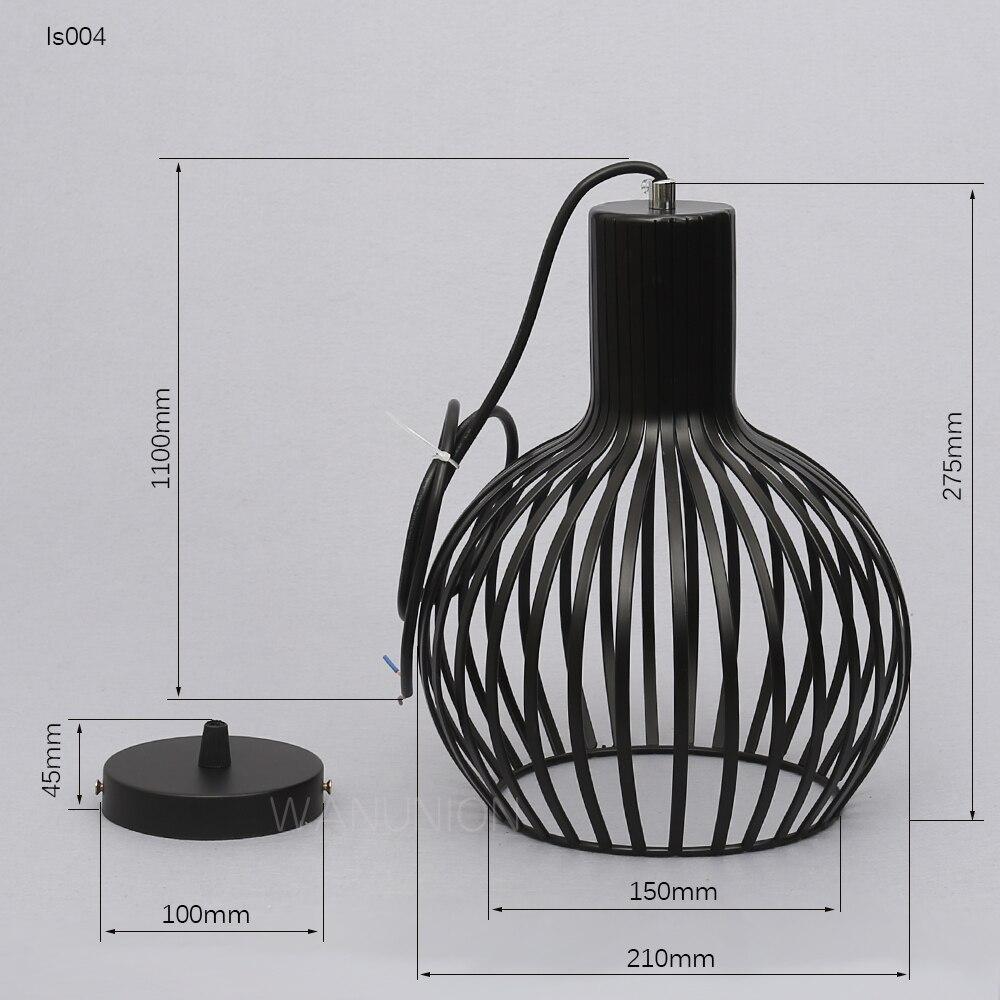 Online-Shop Retro Vintage Edison Pendelleuchte Lampe Eisen Schutz ...