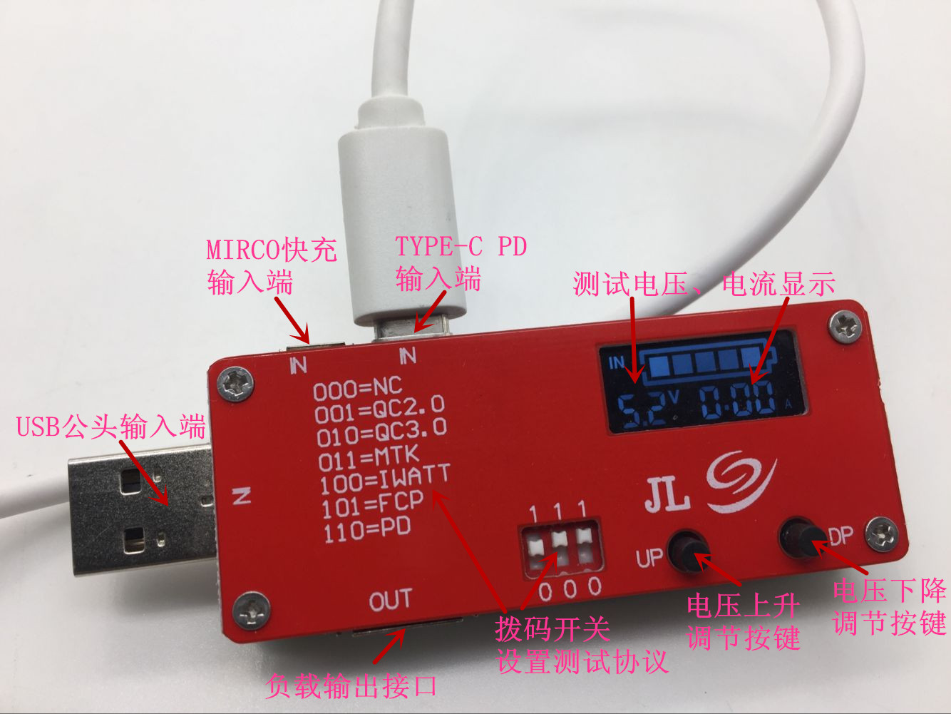 Voltage and current test board type-C PD decoy QC3.0 test board USB-PD compatibility tester zndiy bry z 079 400 hole mini bread board test board w 60 65 cables