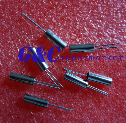50pcs <font><b>32.768</b></font> KHz / 32768HZ Tuning Fork Watch Cryal 6PF 3mm x 8mm NEW image