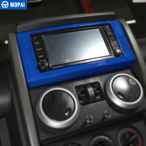 Image 3 - MOPAI רכב לוח מחוונים ניווט CD פנל מסגרת קישוט כיסוי מדבקות עבור ג יפ רנגלר JK 2007 2010 אביזרי רכב סטיילינג