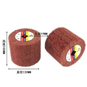 Image 3 - 120*100*19mm Wire Drawing Polishing Burnishing Wheel For Burnishing Machine/polisher/sander Abrasive Wheel