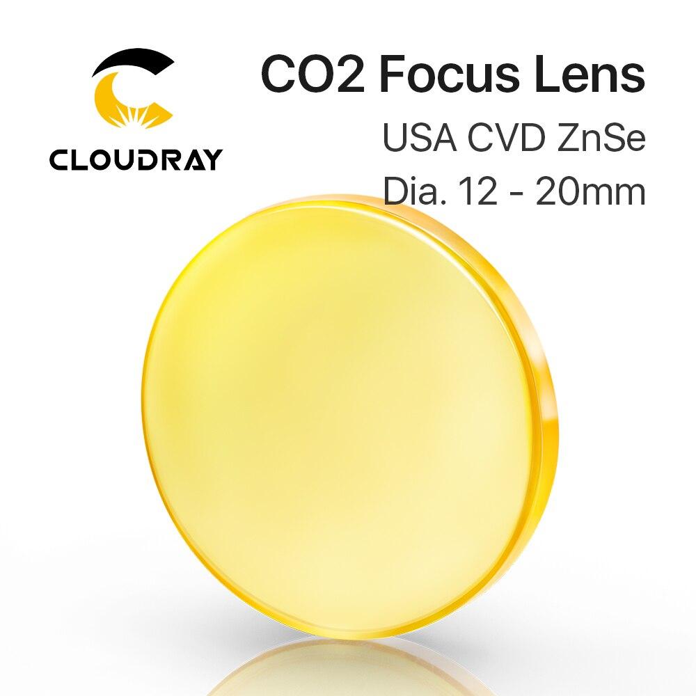 Lente de foco EUA CVD ZnSe DIA 12 15 18 19.05 20 FL 38.1 50.8 63.5 76.2 101.6 127 milímetros para CO2 Laser Engraving Máquina De Corte