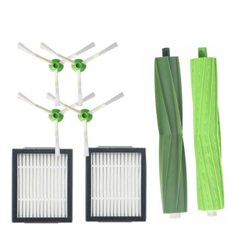 8 In 1 Accessories Replacement Side Brush&Hepa Filters&Main Brush For Irobot Roomba I7 I7+/I7 Plus E5 E6 E7 Vacuum Cleaner8 In 1 Accessories Replacement Side Brush&Hepa Filters&Main Brush For Irobot Roomba I7 I7+/I7 Plus E5 E6 E7 Vacuum Cleaner