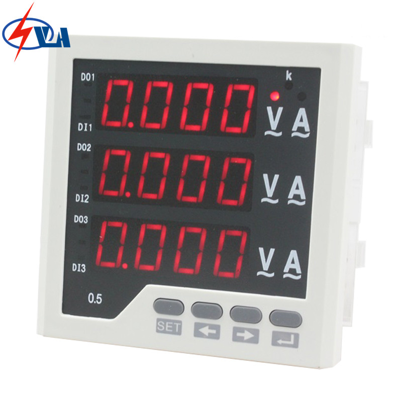 3UIF33  size 96*96 3 phase led ac volt ampere and frequency industrial digital combined meter 3uif23 frame size 120 120mm 3 phase ac led digital combined meter for distribution box