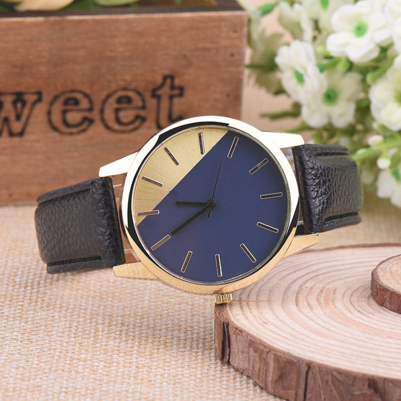 Excellent Quality New Brand Unisex Vintage Leather Bracelet Men Women Quartz Wristwatches with Big Dial Watch Hours for Gift
