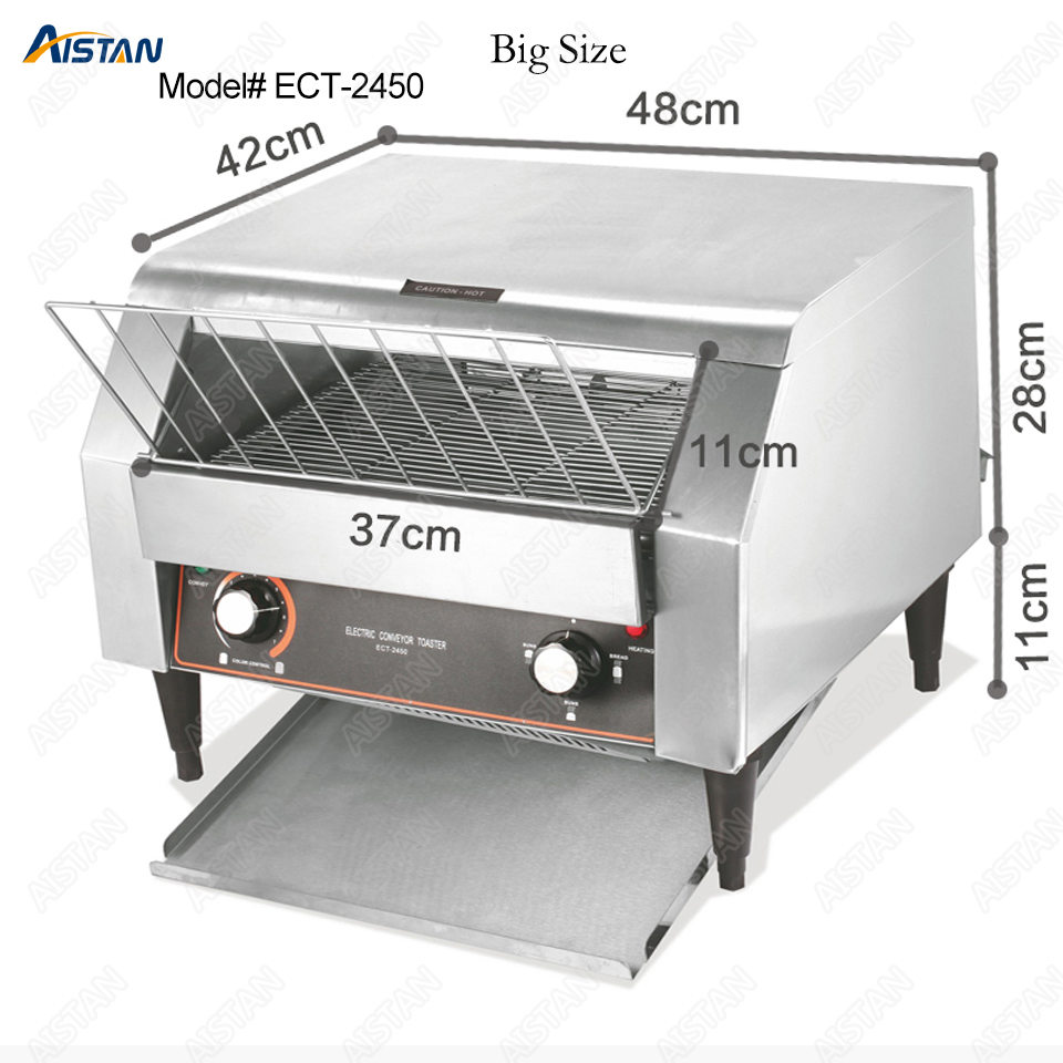 ECT2450 commercial electric conveyor bun bread pizza cookie toaster oven machine for food machinery electric conveyor toaster ct 150 conveyor toaster oven 150 180 slices of bread 1hr