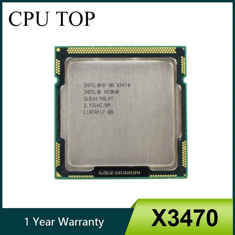intel Xeon X3470 Processor 8M Cache 2.93 GHz SLBJH LGA1156 CPU equal i7 870 working 100%