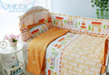 Cute Baby Crib Bedding Set 10 pcs/set Baby Sheets/Crib Bumpers/Quilt 100% Cotton Cot Bedding Set Kit