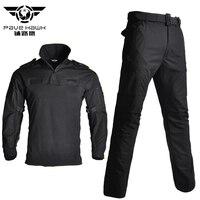 Men's Sets Cotton Military Uniform Shirt Men Army Pants Airsoft Paintball Tactical Shirts Suit Camo Training Clothes Men's Pant
