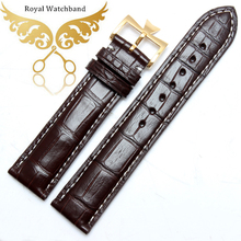 New Arrival!!! GENUINE DARK BROWN ALLIGATOR, CROCODILE LEATHER SKIN WATCH STRAP BAND 20mm