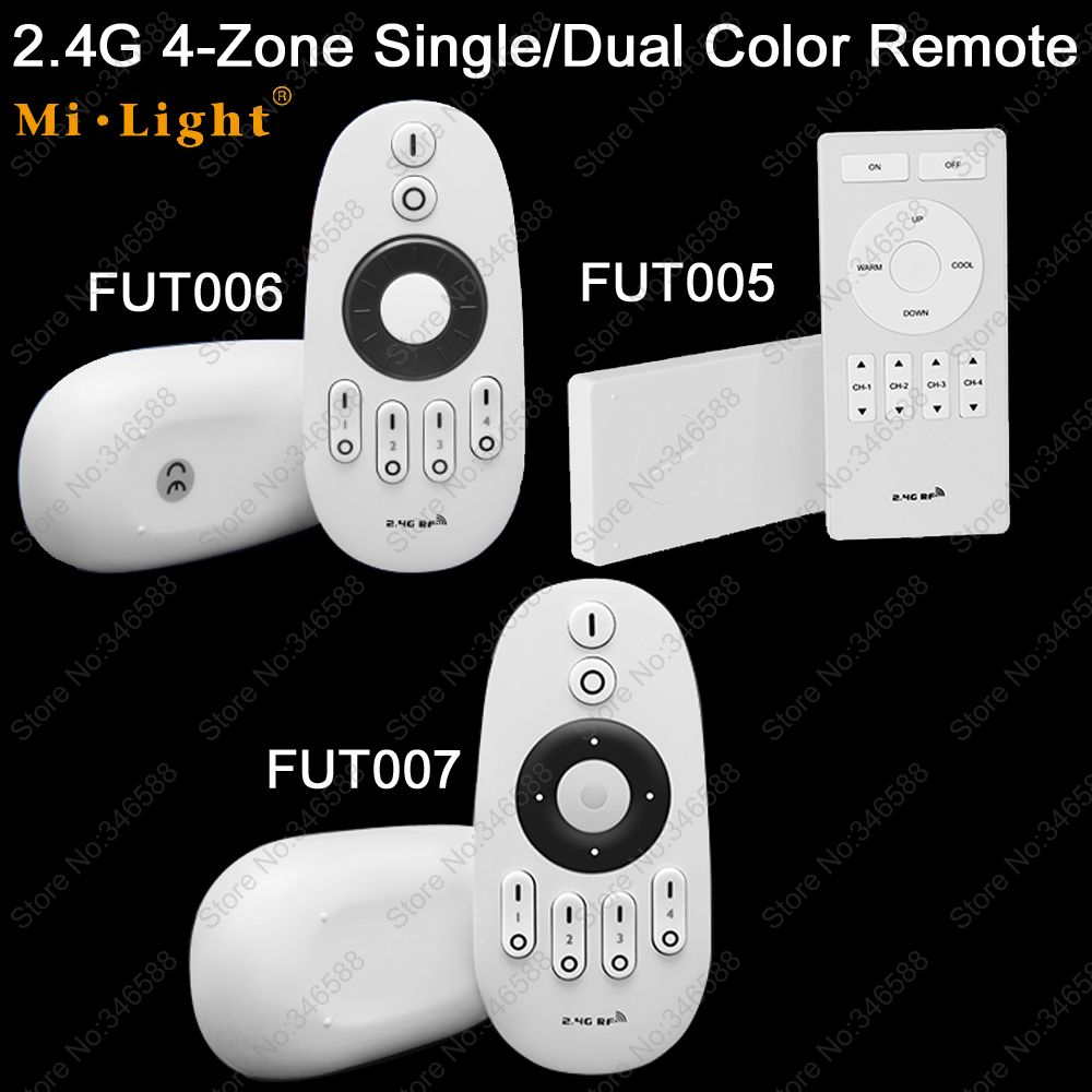 Mi.Light 2.4G RF 4-Zone Wireless Remote LED Dimmer Controller FUT005 FUT006 FUT007 for WW/CW LED Bulb / Single Color LED Strip цена