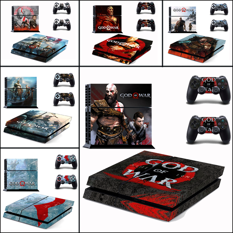 God Of War Vinyl Cover Decal For PS4 Skin Sticker For Sony PlayStation 4 Console & 2 Controller Skins For PS4 Game Accessories