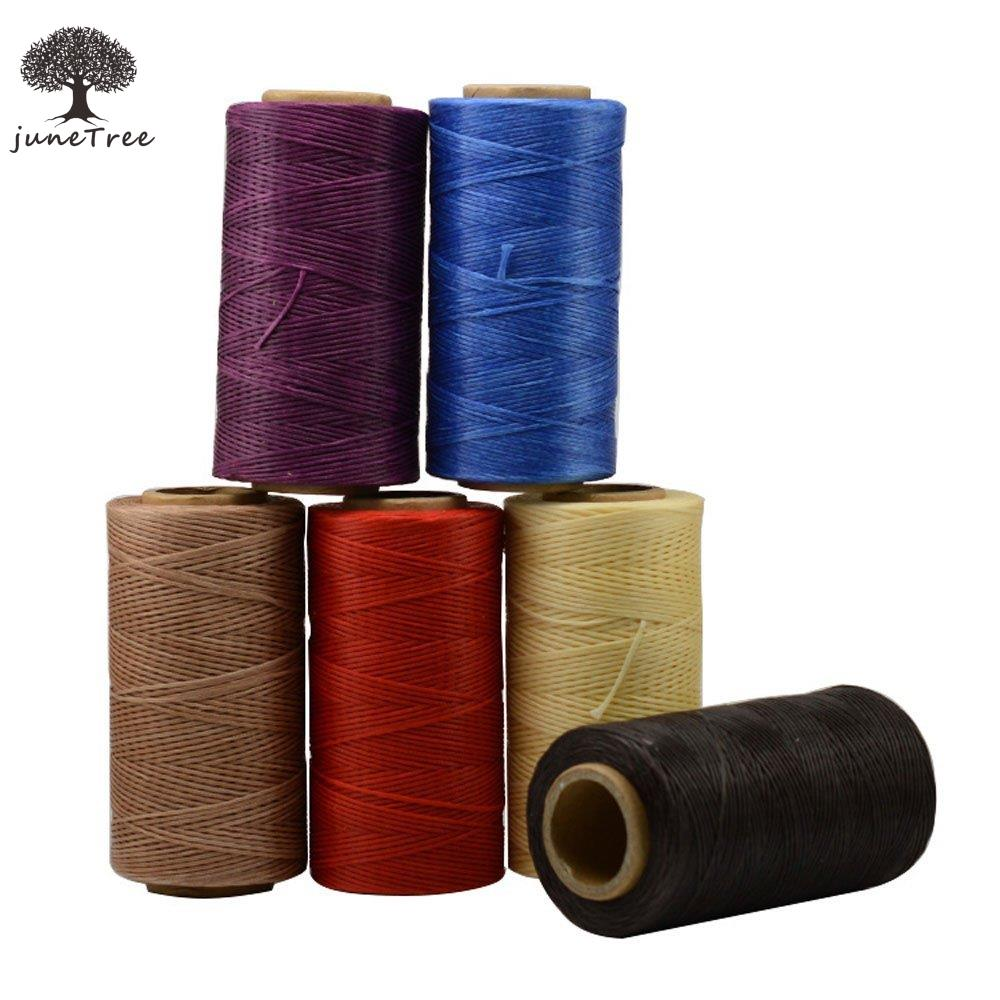 Heavy Duty Waxed Thread Sewing Waxed Coarse Whipping Thread 1mm Leather Hand Stitching 150D 6 pcs set Shoe Bags