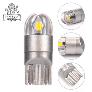 Image 3 - 10Pcs T10 LED Car Light 2 SMD 3030 Marker Lamp W5W WY5W 192 501 2SMD Tail Side Bulb Wedge Parking Dome Light Canbus Auto Styling