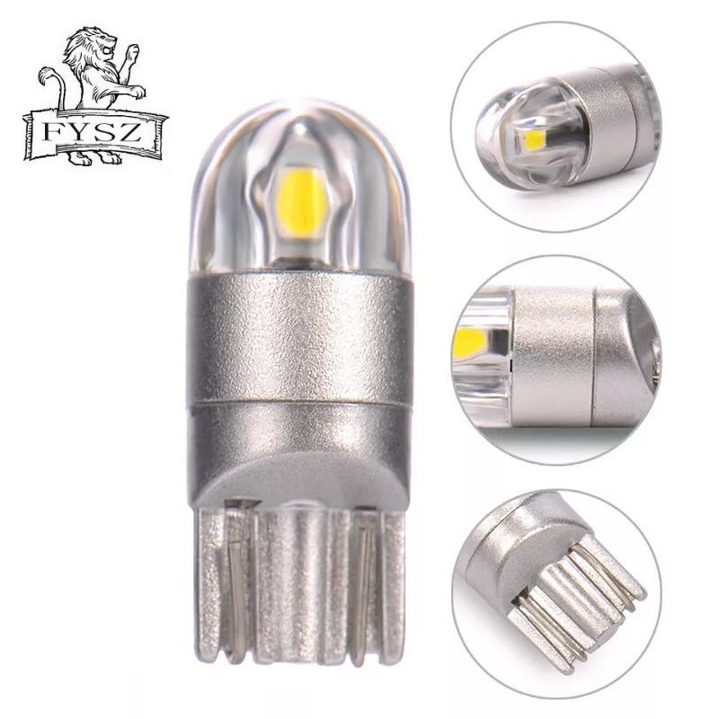Image 3 - 2Pcs T10 LED Car Light 2 SMD 3030 Marker Lamp W5W WY5W 192 501 2SMD Tail Side Bulb Wedge Parking Dome Light Canbus Auto Styling-in Signal Lamp from Automobiles & Motorcycles