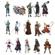 51PCS/set Waterproof Japan Anime Naruto Sticker For Laptop Car Trunk Skateboard Guitar Fridge Backpack Decal Toy Stickers(China)
