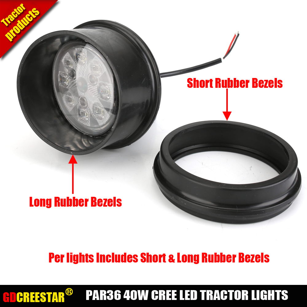 PAR36 Round 40W led work lights Used inner Rear mount and Bottom hood cab fender Tractor x1pc Free Shipping