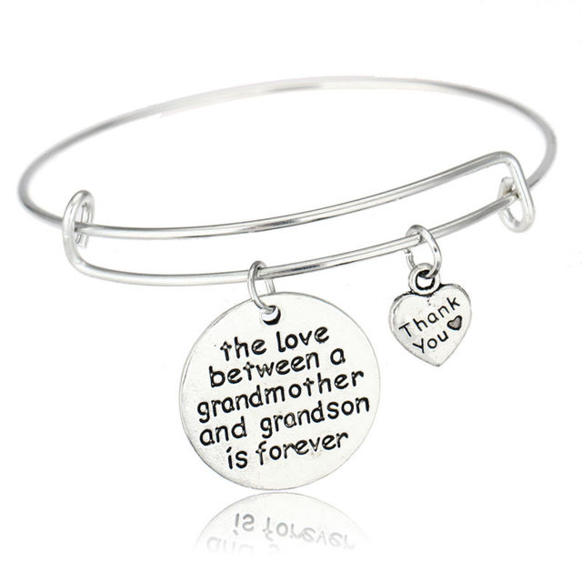 BESPMOSP The Love Between Grandmother and Granddaughter is Forever Charm Bracelet Christmas Gift TgkRTtK8