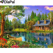 DIAPAI 100% Full Square/Round Drill 5D DIY Diamond Painting House snow scene Embroidery Cross Stitch 3D Decor A21065