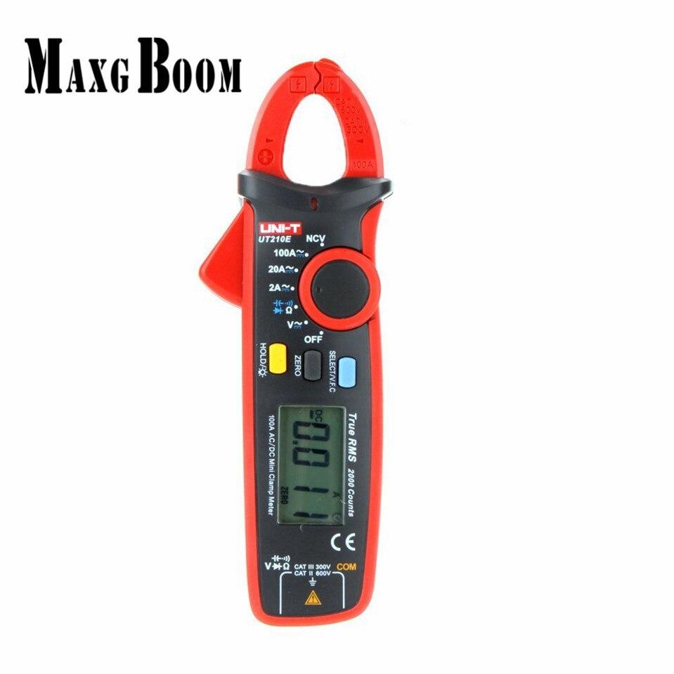 MaxgBoom UNI-T Mini UT210E NCV VFC de Verdadero VALOR EFICAZ Clamp Meter Tensión Corriente Capacitancia Multímetro Pinza Digital de Medición