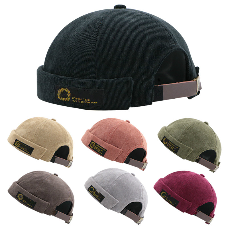 496206a2bb60c 2019 New Casual Hats Patch Skullcap Spring Autumn Beanies Hat Men Women  Hip-hop Retro Cap Portable Fashion Sailor Hat