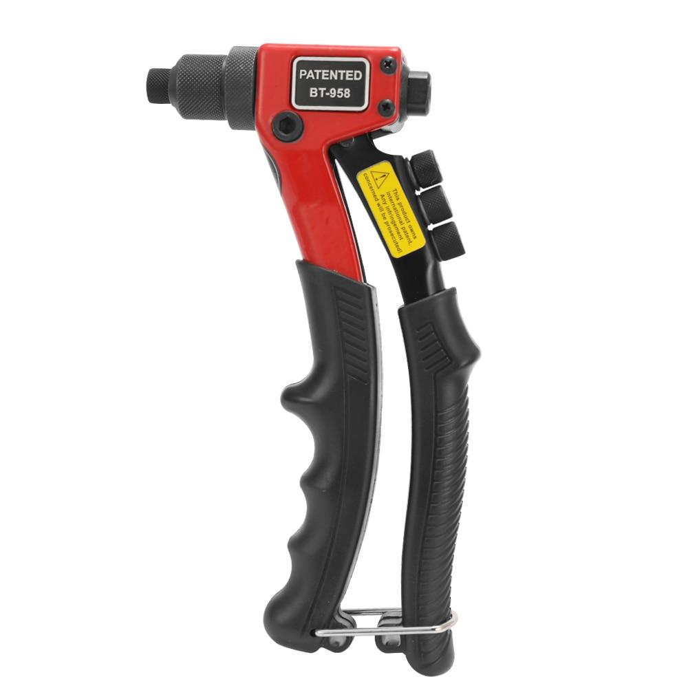 Meterk 8 In Labor-saving Hand Riveter BT-603 Manual Rivet Machine 200mm Riveting Tools