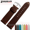 20mm 22mm genuine leather bracelet watchband with stainless steel buckle handmade strap accessories for jeep watches