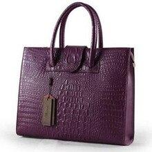 2016 für Crocodile frauen aus echtem leder handtasche schulter handtasche der frauen business aktentasche tasche große kapazität bag