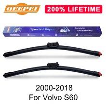 QEEPEI заменить стеклоочистителя для Volvo S60 2000- силиконовой резины Дворники для лобового стекла авто аксессуары