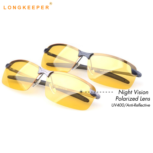 5c2d0c012e Polarized Sunglasses Men Night Vision Goggles Men s Fishing Driving Glasses  Gafas Anti-Glare Sun glasses