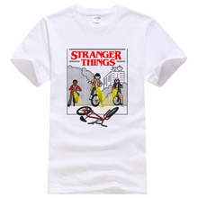 Newest 2017 Fashion Stranger Things T Shirt Men's T-shirt Summer Cotton Hipster Tops Cool Tee Clothing #048