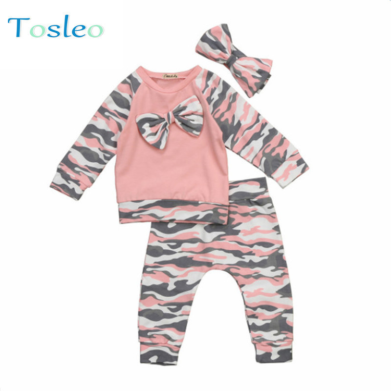 Newborn Baby Girl Clothes Winter Baby Clothing Infant Clothing Headband + Top + Pants Baby Girl Outfit Sets 0-2Y emmababy baby girl clothes set 4pcs newborn infant kids cute baby girls bodysuits leg warmer headband clothing outfit sets