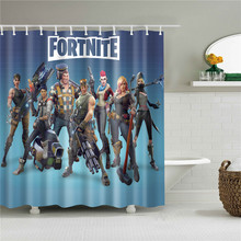 waterproof movie poster portrait printed bath curtain high quality bathroom shower curtains set with hooks home decoration(China)