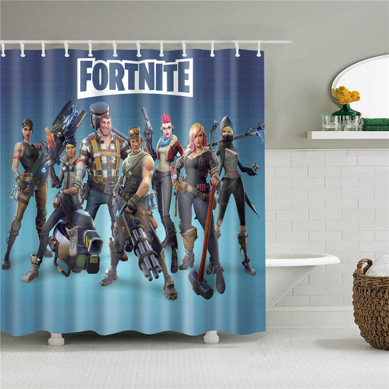 waterproof movie poster portrait printed bath curtain high quality bathroom shower curtains set with hooks home decoration