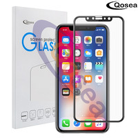 Qosea For IPhone 8 Tempered Glass 9H Electroplated 4D Round Full Curved Edge For IPhone8 8
