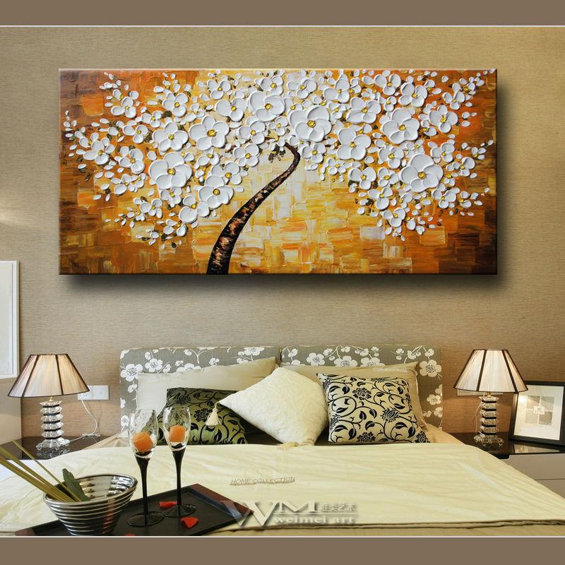 Flores modernas cuadros decorativos pintura de la lona for Pinturas para decorar