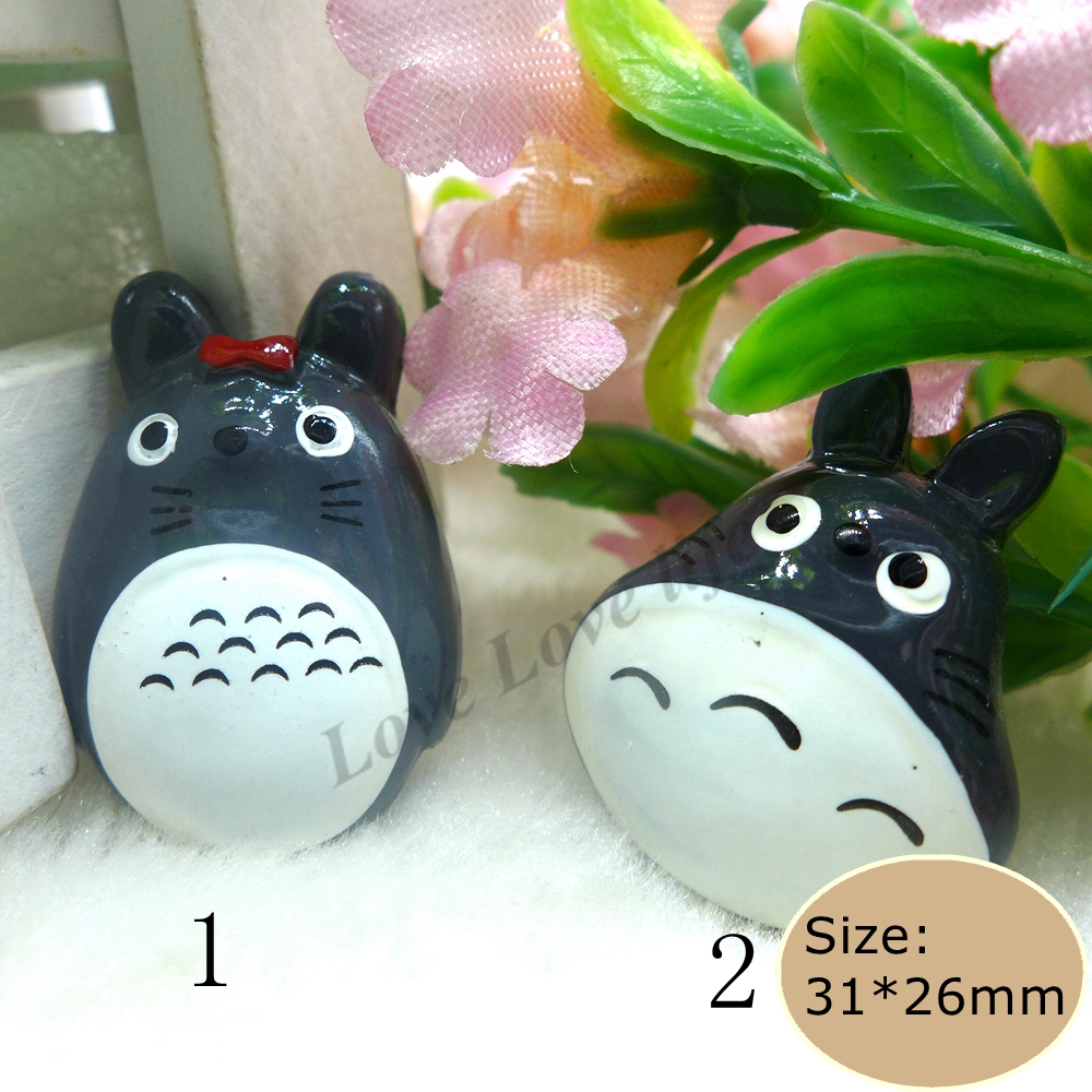 Kawaii Anime Totoro Flatback Resin Cabochon Craft For DIY  mobile phone case  Hair Bow Decoration Supplies Embellishment