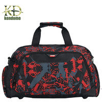 Camouflage Waterproof Nylon Sports Gym Bags Fitness Yoga Training Shoulder Handbag For Female With Independence Shoes