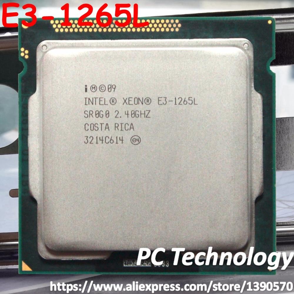Original Intel XEON processor E3 1265L Quad core 2 4GHz 8MB E3 1265L LGA1155 CPU free