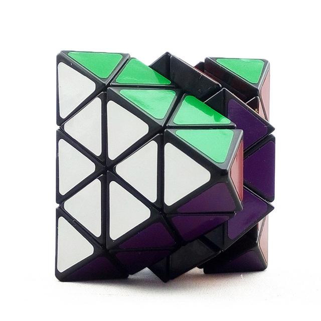 Brand New Octaedro LanLan 8-eixo IQ Test Magic Cube Torção Enigma Velocidade Cubo Magico Profissional Preto Educacional Brinquedos Especiais