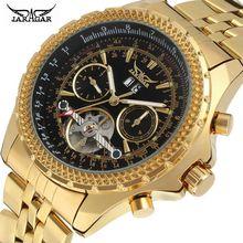 Reloj automático a la moda de acero inoxidable Jaragar para Hombre, relojes mecánicos de oro para Hombre, relojes de lujo de marca superior para Hombre 2018