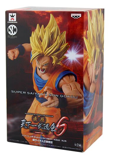 Dragon Ball Z Scultures Big 6 Super Saiyan 2 Son Goku PVC Figure BANPRESTO