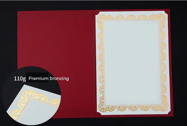 CUCKOO certificate A4 stamping silver border anti-counterfeiting watermark core paper letter authorization training graduate 4