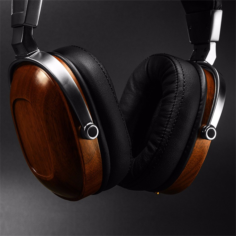 Original BossHifi B8 HiFi Wooden Metal Headphone Black Mahogany Headset Earphone With Beryllium Alloy Driver And protein Leather (6)