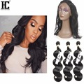 360 Lace Virgin Hair 8A 360 Lace Frontal Closure Pre Plucked With Adjustable Straps Brazilian Body Wave Bleached Band Frontals