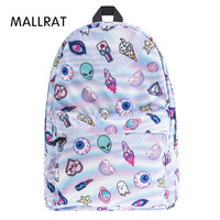 Who Cares Cute Patch Holo 3D School Bags For Teenager Print Fashion Mochila Masculina Casual Bookbag