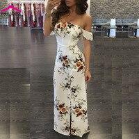 PULBEANISS Vestido De Verano 2017 Woman Summer Dresses Slash Neck Print Clothes For Women Femme Sleeveless