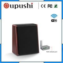 OUPUSHI CL315 20 w WIFI altifalante orador música de fundo da parede de madeira na sala de estar quarto casa sistema de áudio